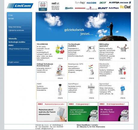 Unicom. Peryferia komputerowe, zabezpieczenia, telekomunikacja