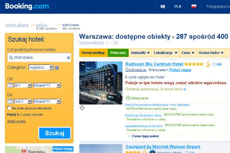 Booking.com. Hotele i pensjonaty w Warszawie